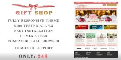 Gift Shop - OpenCart Theme