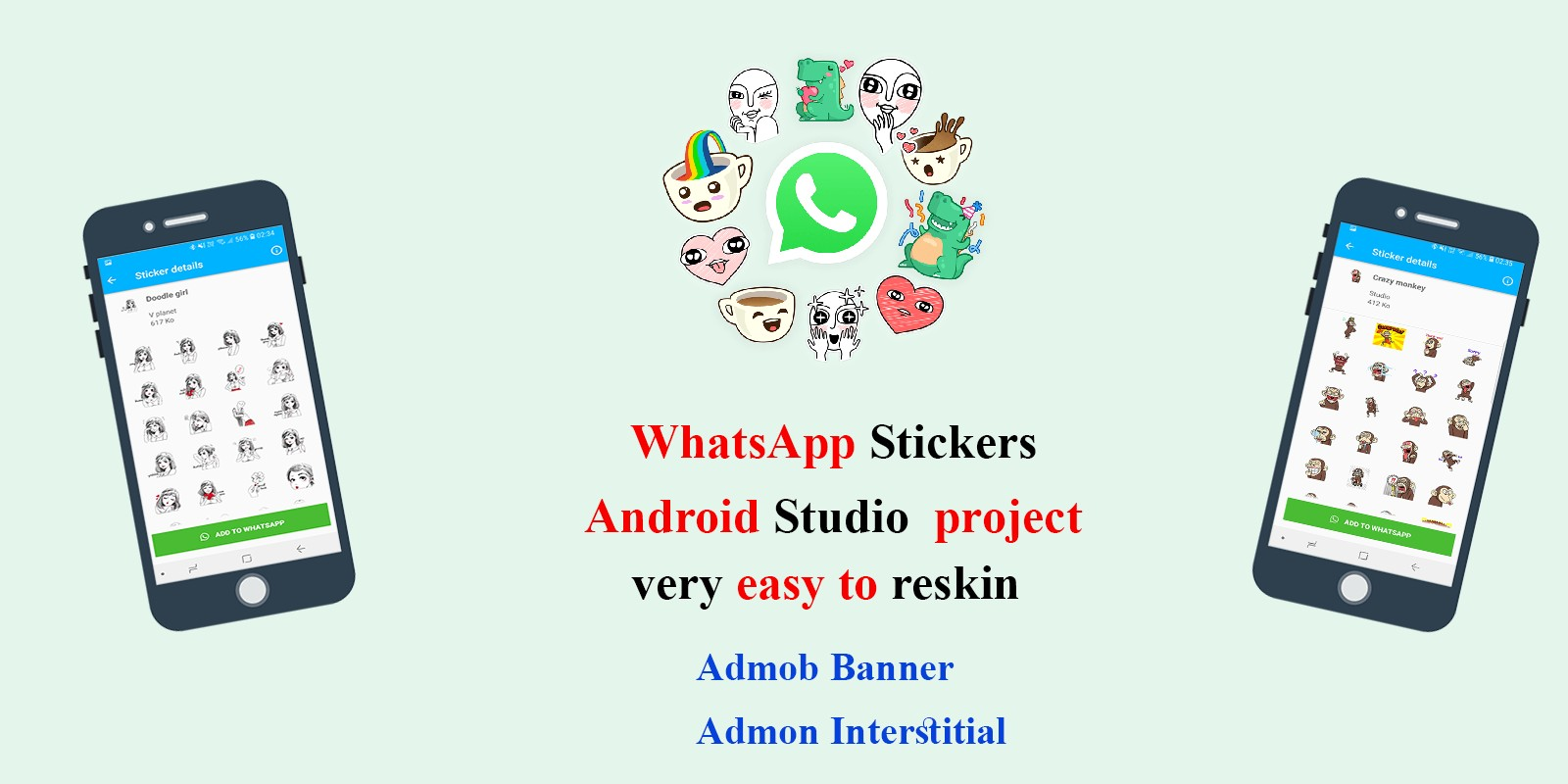 WhatsApp Stickers Android Studio Project
