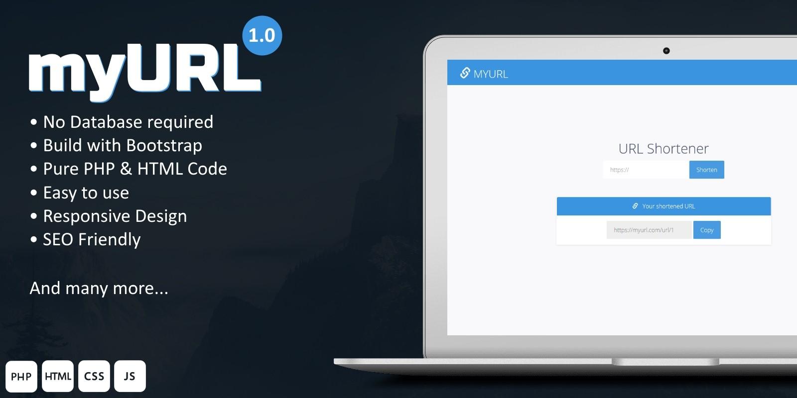 myURL - Private URL Shortner PHP Script