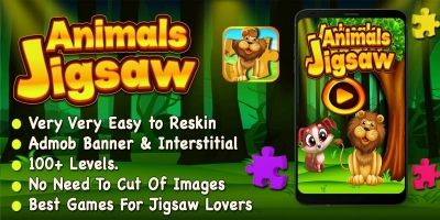 Animals Jigsaw Puzzle - iOS Source Code