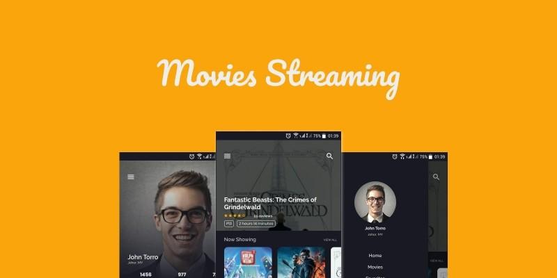 Movie Streaming App Ionic Theme