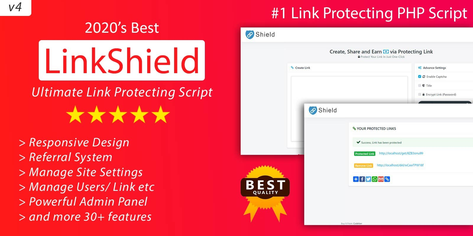 LinkShield - Link Protecting PHP Script