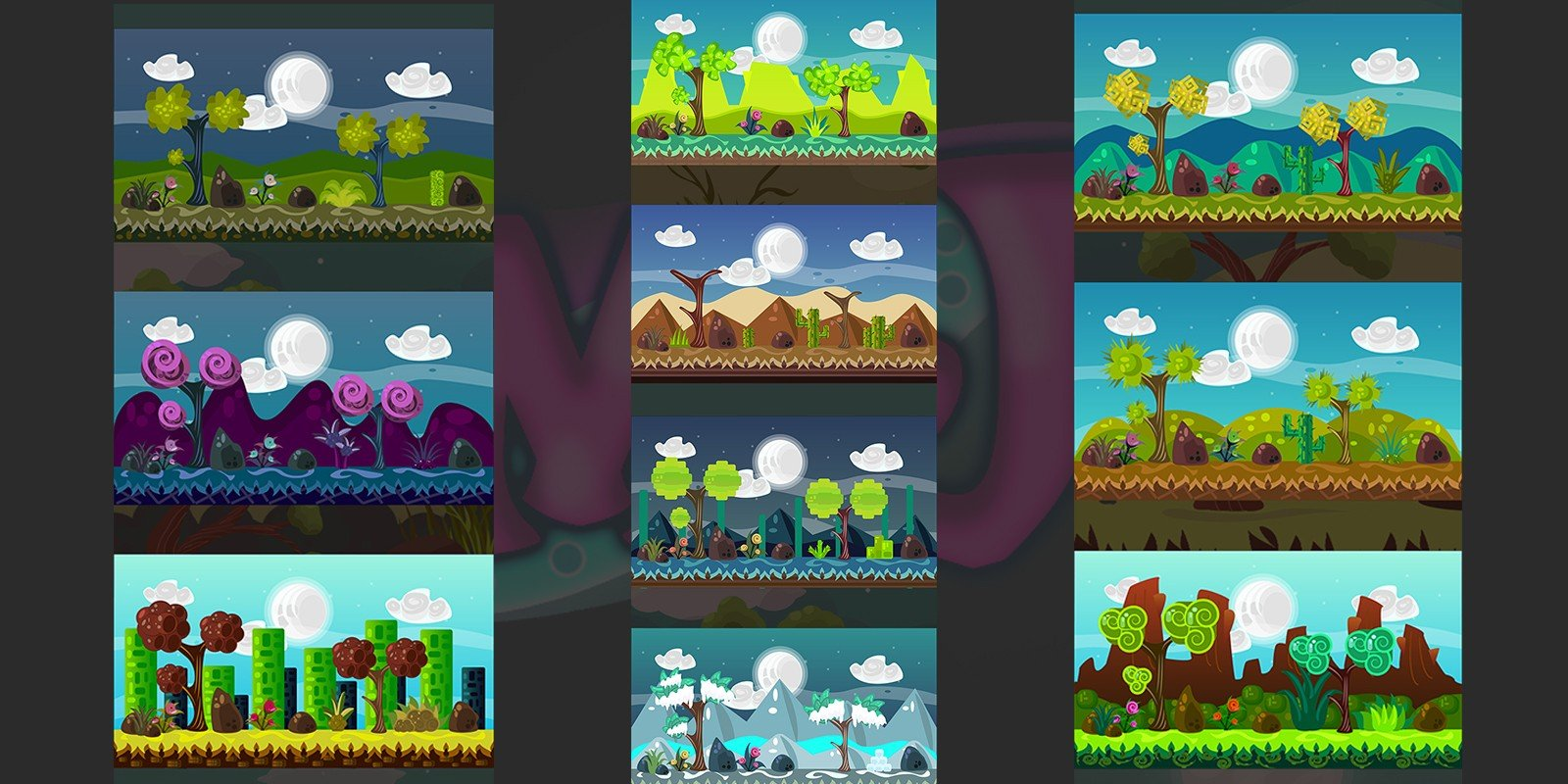 2D Vector Game Backgrounds