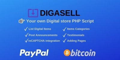 DigaSell - Digital store PHP Script