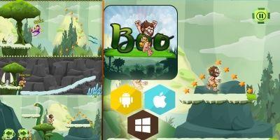 Boo Caveman - Buildbox Template