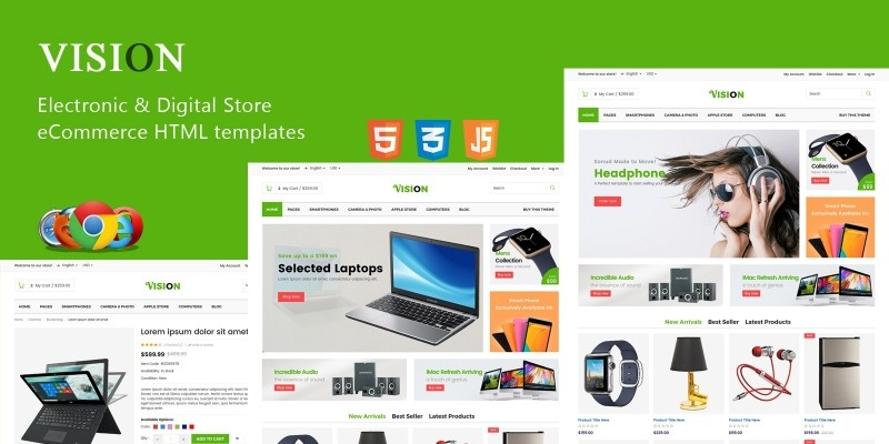 Vision - Electronic Digital Store HTML Template