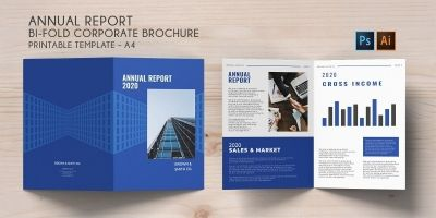Bi-Fold Corporate Brochure Annual Report - A4