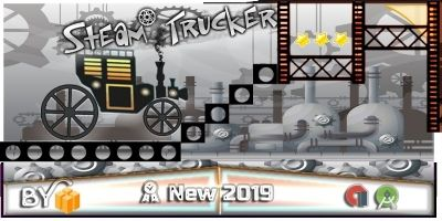 Steam Trucker Game - Buildbox Template