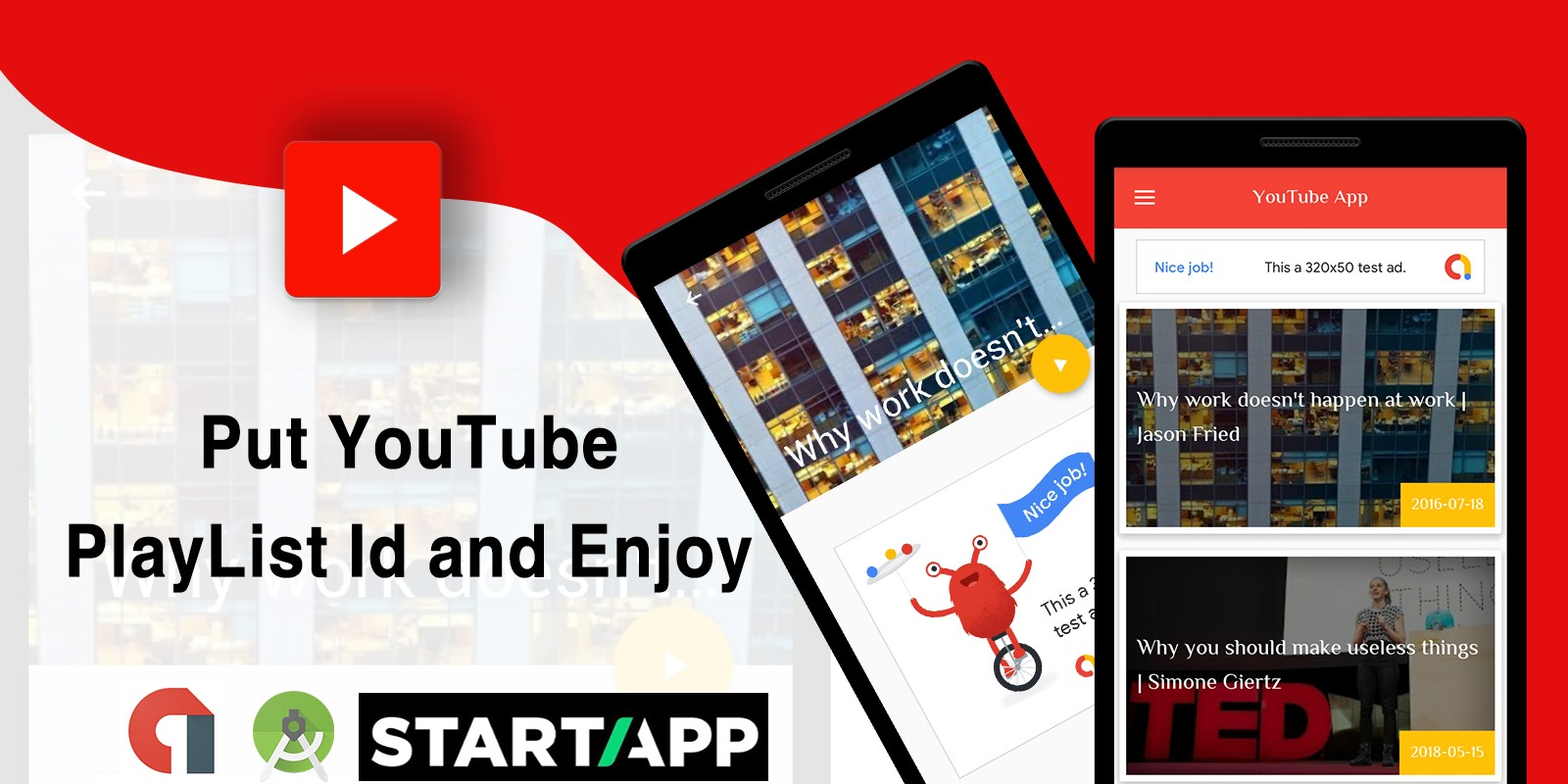 YouTube PlayList - Android App Source Code