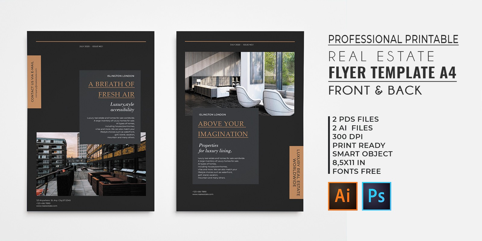 professional elegant real estate flyer by graphicques