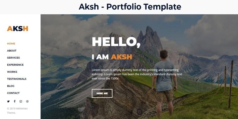 Aksh - Personal Portfolio Template