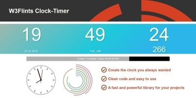 W3Flints Clock Timer JavaScript