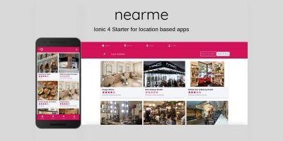 Nearme 5 - Ionic 4 Starter Template