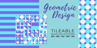 16 Geometric Seamless Tileable Patterns - RGB