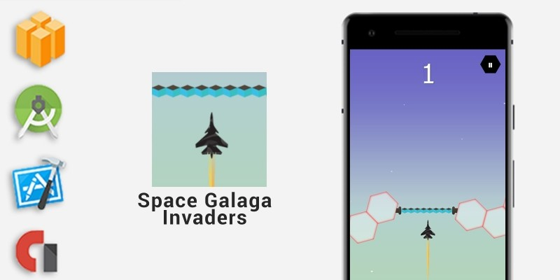 Space Galaga Invaders - Buildbox Template