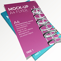 5 Mock-Up Flyer PSD Templates A4
