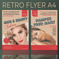 Professional Retro Flyer Templates A4