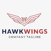 Hawk Wings Logo Template