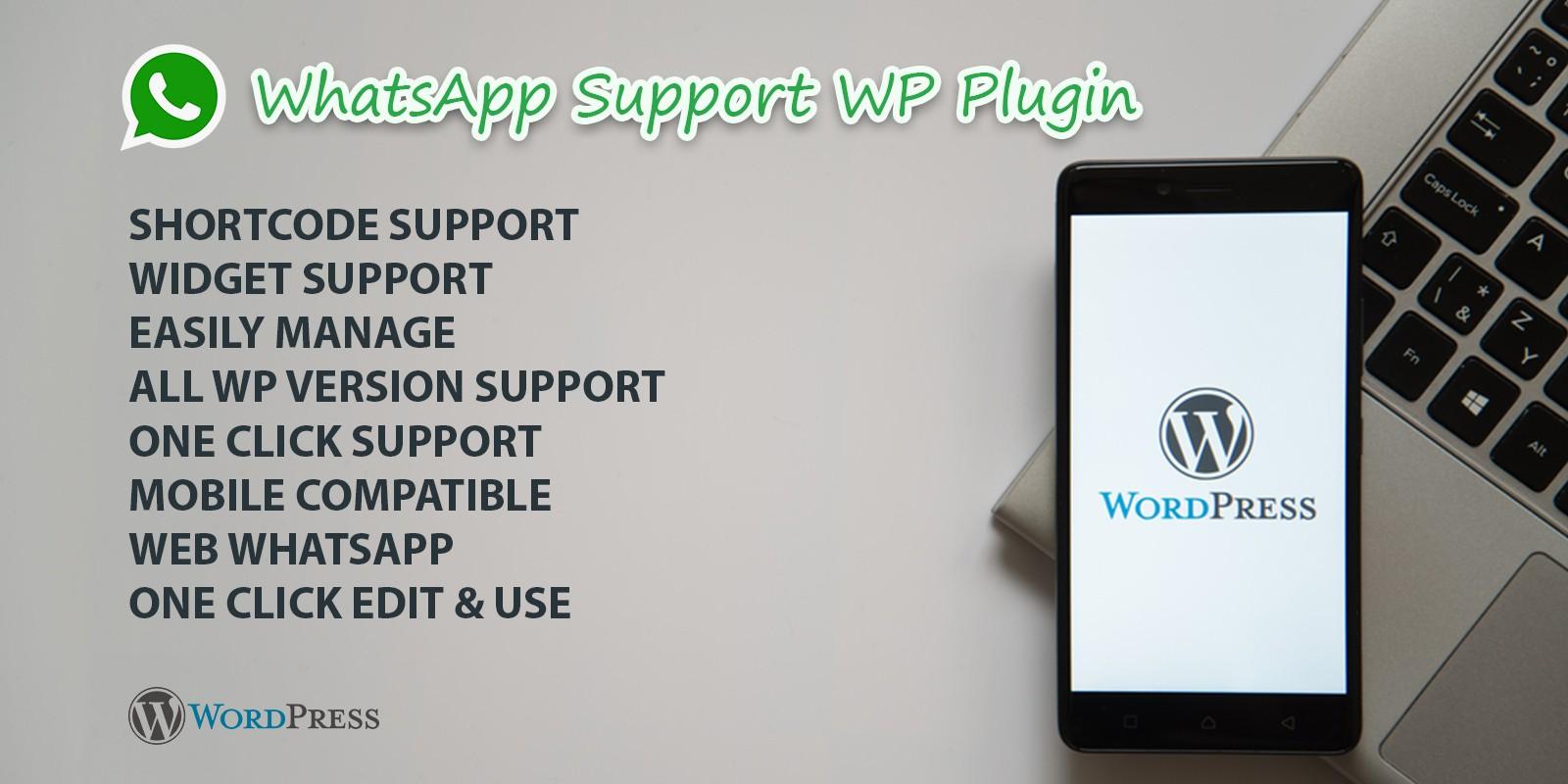 WhatsApp Support WordPress Plugin