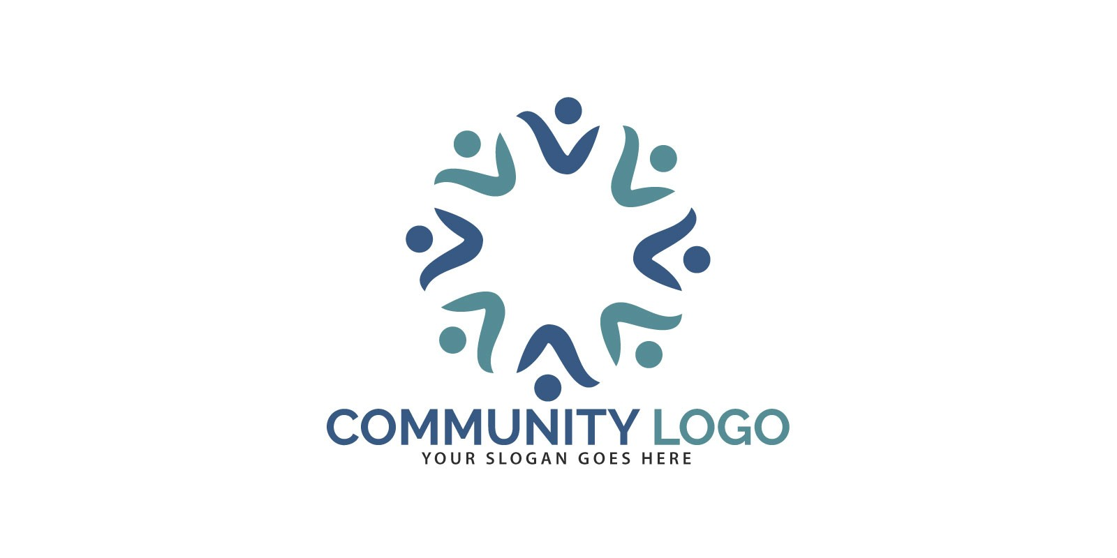Community Logo Design Teamwork