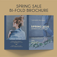 Bi-Fold Fashion Spring Sale Brochure A4