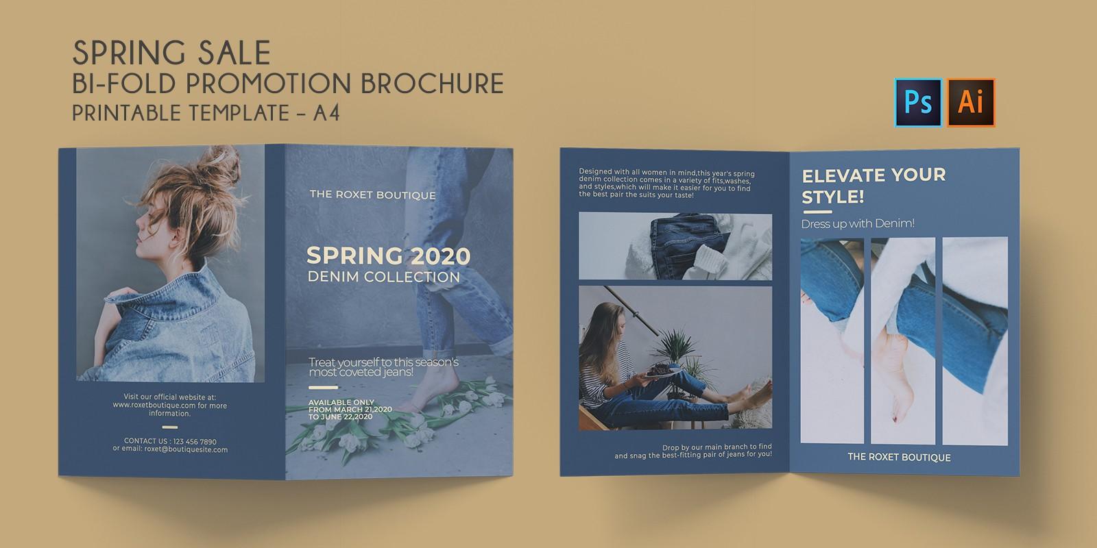 Bi-Fold Fashion Spring Sale Brochure A4