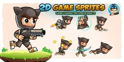 CatBoy 2D Game Sprites