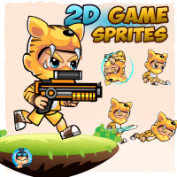 Tiger Boy 2D Game Sprites