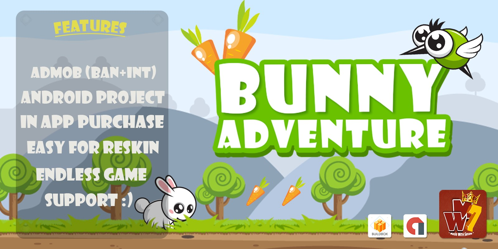 Bunny Adventure - Buildbox Template