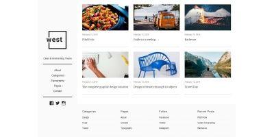 One West - WordPress Blog Theme