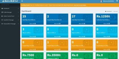 Matrix MLM 3x3 - Autofill User2User Donation Plan