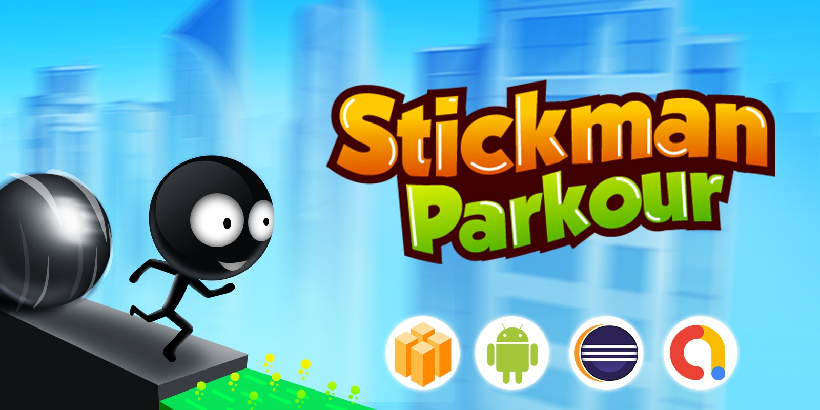 Stickman Runner Parkour - Template Buildbox