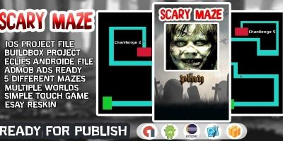 Scary Maze Buildbox Template