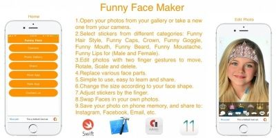 Funny Face Maker - iOS Source Code