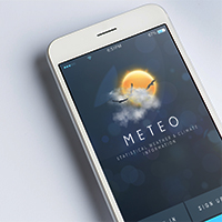 Mobile UI Kit Weather App - 6 PSD Templates