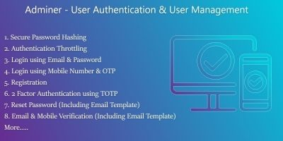 Adminer - PHP Authentication And User Management