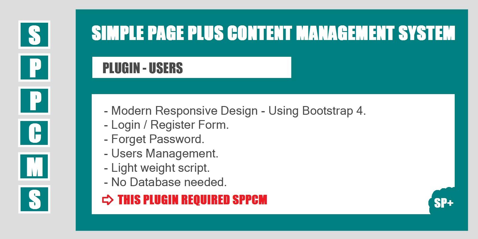 Users - SPPCMS Plugin