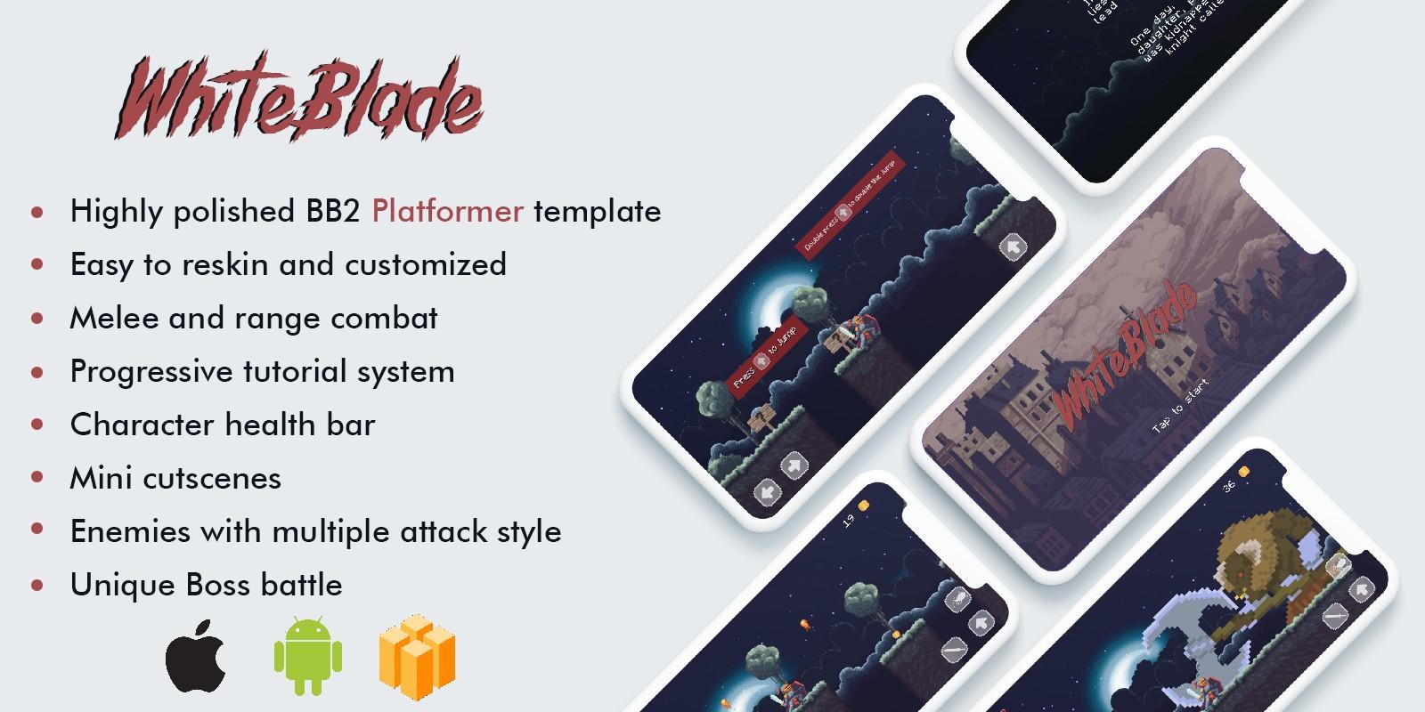 WhiteBlade - Buildbox 2 Platformer Template