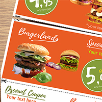 Flyer with 3 Detachable Discount Coupons