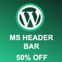 MS Header Bar - WordPress Plugin