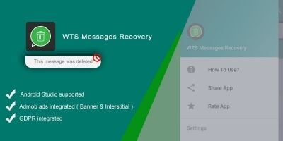 WTS Messages Recovery  - Android Template