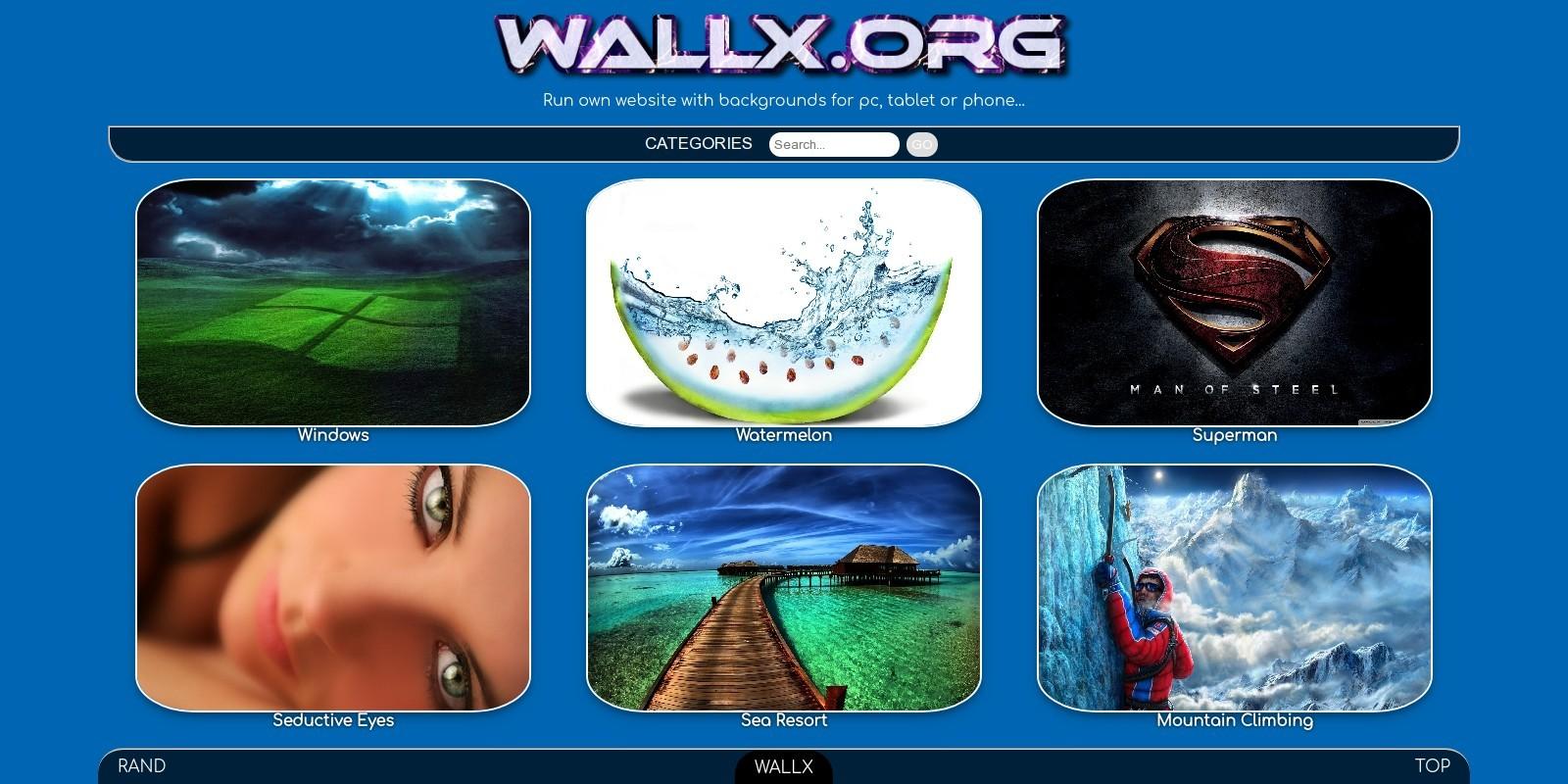 WallX - Wallpaper Script PHP