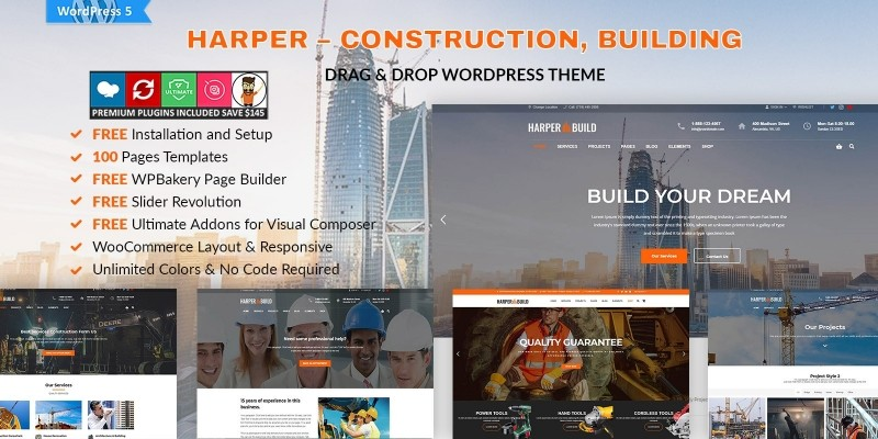 Harper - Construction Building WordPress Theme