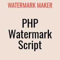 Watermark Marker PHP Script