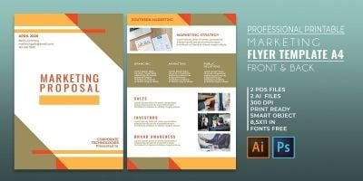 Professional Marketing Flyer 2 Templates A4