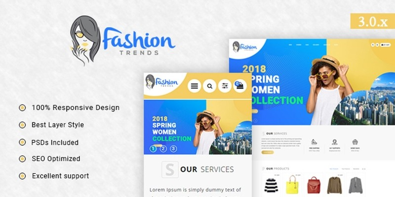 Fashion Trends - Responsive Opencart Theme