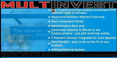 MultInvest - Cryptocurrencies Investment Script