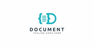 Document D Letter Logo