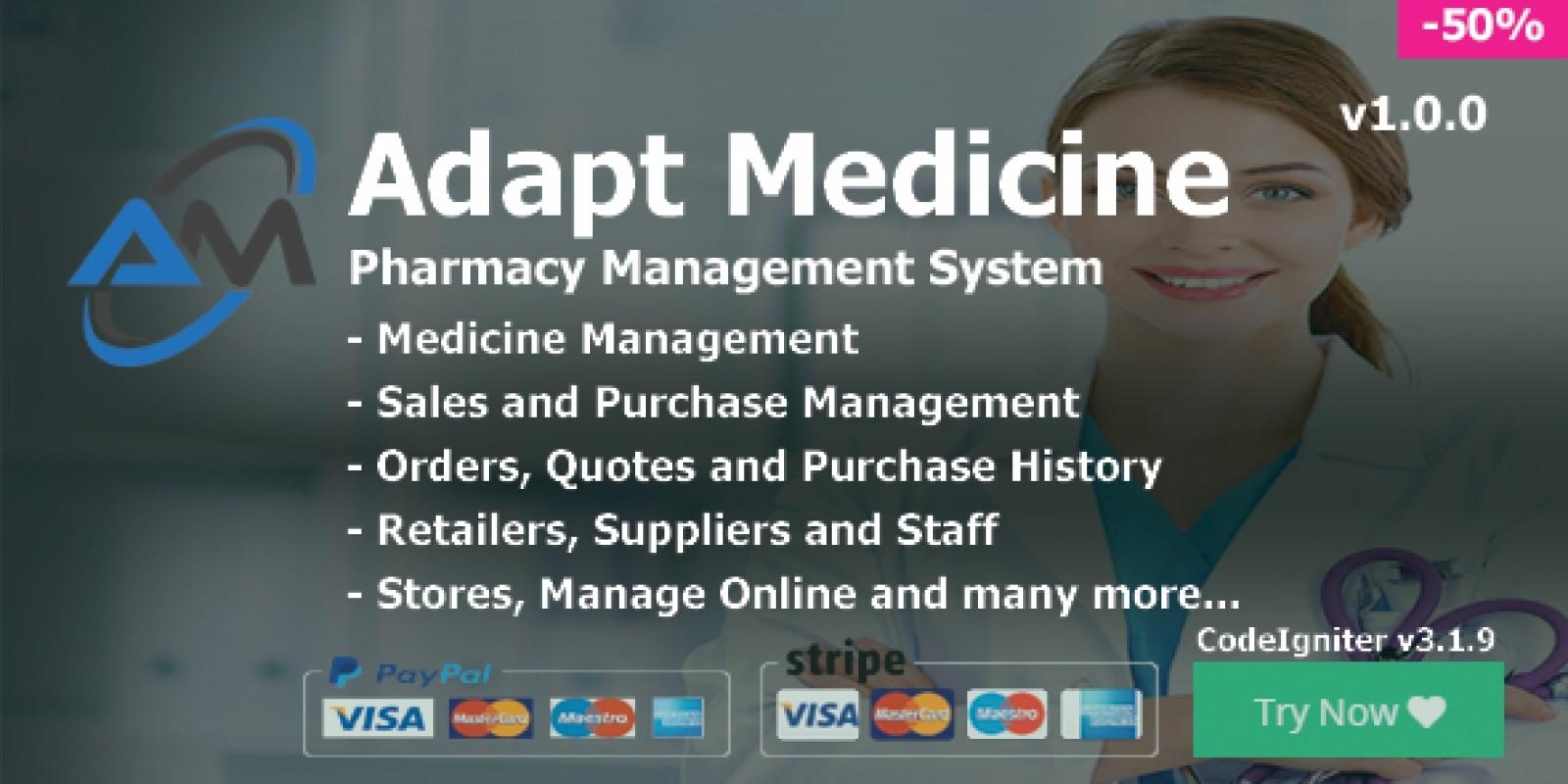 Adapt Medicine - Pharmacy Management System