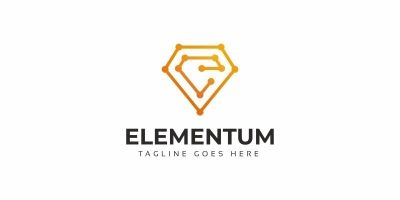 Elementum E Letter Logo